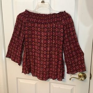 Band of Gypsies Off The Shoulder Fall Floral Top🍁